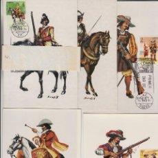 Sellos: 1974 -ED 2167/71 UNIFORMES, MATASELLO MADRID PRIMER DIA-TM/TARJETA MÁXIMA. Lote 186113558