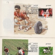 Sellos: 1990 ED 3054/6 JUEGOS OLÍMPICOS BARCELONA 92 MAT PRIMER DIA -TM/TARJETA MÁXIMA. Lote 187544723