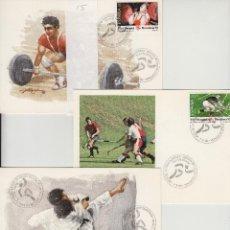 Sellos: 1990 ED 3054/6 JUEGOS OLÍMPICOS BARCELONA 92 MATASELLO ESPECIAL PRIMER DIA -TM/TARJETA MÁXIMA. Lote 187544727
