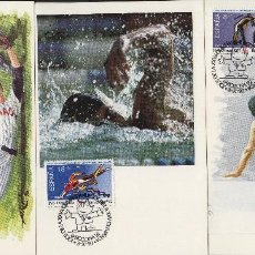 Sellos: 1990 ED 3076/8 JUEGOS OLÍMPICOS BARCELONA 92 ,DEPORTES MAT ESPECIAL PRIMER DIA -TM/TARJETA MÁXIMA. Lote 187545188