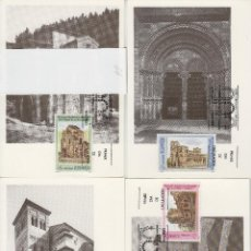 Sellos: 1990 ED 3092/5 PATRIMONIO DE LA HUMANIDAD MAT MADRID PRIMER DIA -TM/TARJETA MÁXIMA. Lote 187545283