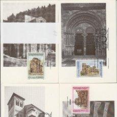 Sellos: 1990 ED 3092/5 PATRIMONIO DE LA HUMANIDAD MAT BARCELONA PRIMER DIA -TM/TARJETA MÁXIMA. Lote 187545290