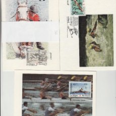 Sellos: 1991 ED 3104/6 JUEGOS OLÍMPICOS BARCELONA 92 MATASELLO PRIMER DIA -TM/TARJETA MÁXIMA. Lote 187545421