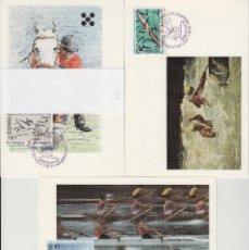 Sellos: 1991 ED 3104/6 JUEGOS OLÍMPICOS BARCELONA 92 MATASELLO ESPECIAL PRIMER DIA -TM/TARJETA MÁXIMA. Lote 187545430