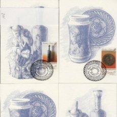 Sellos: 1991 ED 3115 PATRIMONIO NACIONAL PORCELANA CERÁMICA MATASELLO PRIMER DIA -TM/TARJETA MÁXIMA. Lote 187545517
