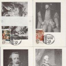 Sellos: 1990 ED 3090 TAPICES , REYES PATRIMONIO NACIONAL MATASELLO MADRID PRIMER DIA -TM/TARJETA MÁXIMA. Lote 187545553