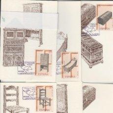 Sellos: 1990 ED 3127/32 ARTESANIA MUEBLES MAT BARCELONA PRIMER DIA -TM/TARJETA MÁXIMA. Lote 187590970