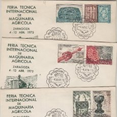 Sellos: ED 2252/3 AÑO 1975 ORFEBRERIA EXPOSICION ESPAÑA 75 EN SOBRE( 4) MAT FERIA AGRÍCOLA ZARAGOZA ALFIL. Lote 190480982