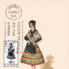 Sellos: TRAJES TIPICOS ESPAÑOLES 1967 TRAJE DE ALMERIA (EDIFIL 1770) EN TARJETA MAXIMA PRIMER DIA DE MF.. Lote 191265288