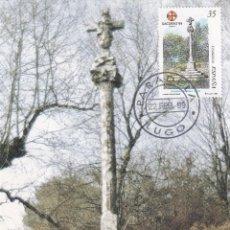 Sellos: CRUCERO XACOBEO 99 AÑO SANTO COMPOSTELANO 1999 (EDIFIL 3617) EN TM PD MATASELLOS PARADELA LUGO. RARA. Lote 194947373