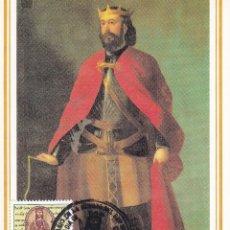 Sellos: REY SANCHO RAMIREZ IX CENTENARIO EFEMERIDES 1994 (EDIFIL 3309) EN TM PD MATASELLOS HUESCA. RARA ASI.. Lote 195473753