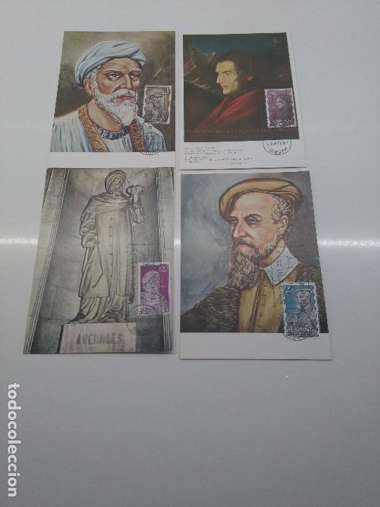 TARJETA MAXIMA EDIFIL 1791-1794 AVERROES ACOSTA MAIMONIDES LAGUNA PRIMER DIA CIRCULACION MADRID 1967 (Sellos - España - Tarjetas Máximas )