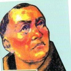 Sellos: TARJETA MAXIMA FRAY TORIBIO DE BENAVENTE CON MATASELLOS PRIMER DIA 1991. Lote 200027341