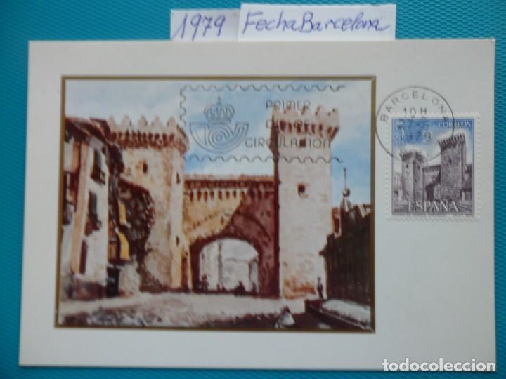 1979-ESPAÑA-TARJETAS MAXIMAS-PAISAJES Y MONUMENTOS-SERIE COMLETA-FECHA BARCELONA (Sellos - España - Tarjetas Máximas )