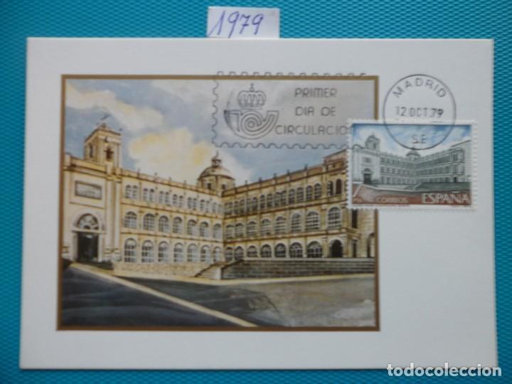1979-ESPAÑA-TARJETAS MAXIMAS-AMERICA-ESPAÑA-COLEGIO MAYOR DE SAN BARTALOME,BOGOTA (Sellos - España - Tarjetas Máximas )
