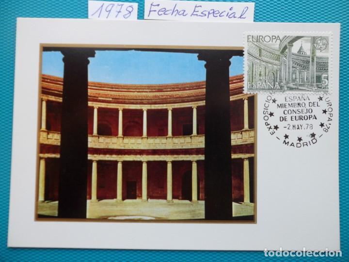 1978-ESPAÑA-TARJETAS MAXIMAS-EUROPA-CEPT-FECHA ESPECIAL-EXPO. (Sellos - España - Tarjetas Máximas )