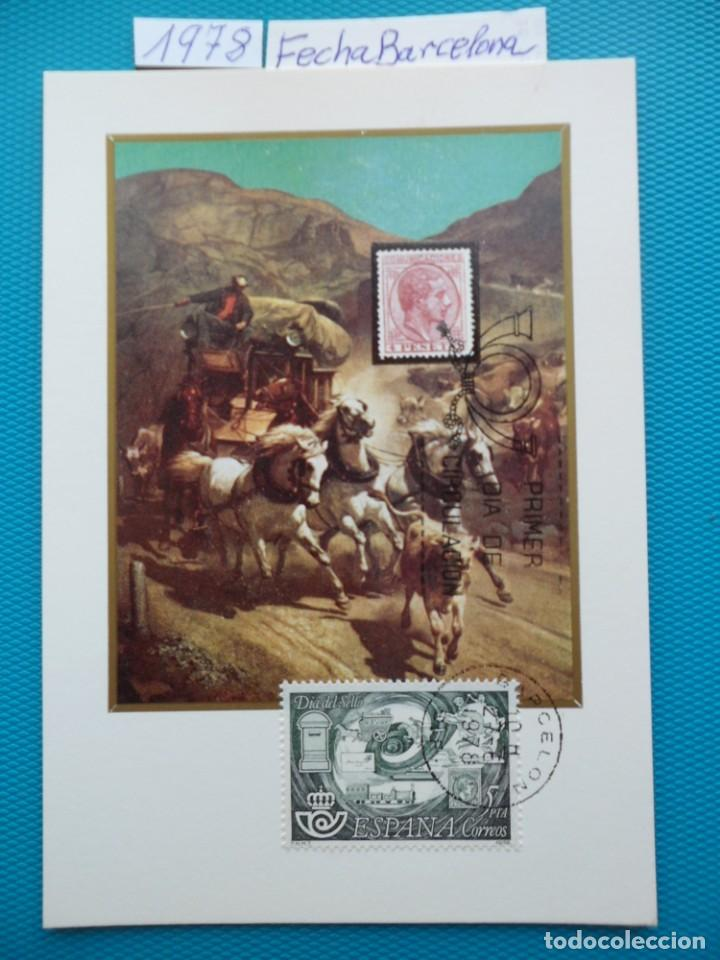 1978-ESPAÑA-TARJETAS MAXIMAS-DIA DEL SELLO-FECHA BARCELONA (Sellos - España - Tarjetas Máximas )