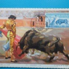 Selos: 1960-ESPAÑA-TARJETAS MAXIMAS-TAUROMAQUIA-TOROS. Lote 205346375