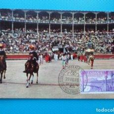 Selos: 1960-ESPAÑA-TARJETAS MAXIMAS-TAUROMAQUIA-TOROS. Lote 205346500