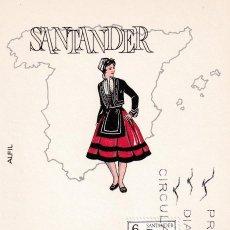 Sellos: TRAJE DE SANTANDER TRAJES TIPICOS ESPAÑOLES 1970 (EDIFIL 1954) EN TARJETA MAXIMA PRIMER DIA DE ALFIL. Lote 205697572