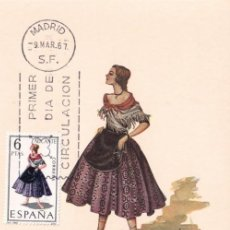 Sellos: TRAJE DE ALICANTE TRAJES TIPICOS ESPAÑOLES 1967 (EDIFIL 1769) EN TARJETA MAXIMA PRIMER DIA DE MF.. Lote 205699231