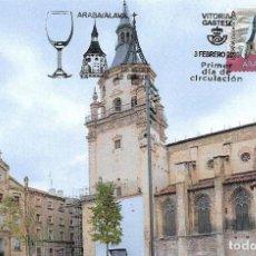 Sellos: ESPAÑA. TARJETA MAXIMA PRIMER DIA. CATEDRAL DE VITORIA. 2020. Lote 205990068