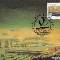 Sellos: 200 AÑOS GESTA 25 JULIO 1797 CENTENARIOS 1997 (EDIFIL 3500) TM PD SANTA CRUZ TENERIFE CANARIAS. RARA. Lote 206135437