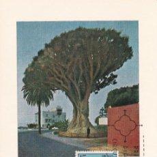 Sellos: DRAGO FLORA 1973 (EDIFIL 2124) EN TARJETA MAXIMA PRIMER DIA. MPM.. Lote 206145861