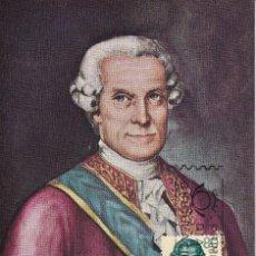 Sellos: JOSE DE GALVEZ FORJADORES DE AMERICA 1963 (EDIFIL 1528) EN TARJETA MAXIMA PRIMER DIA. RARA. MPM.. Lote 206559732