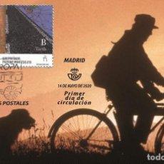 Sellos: SPAIN 2020 - EUROPA 2020 - ANCIENT POSTAL ROUTES MAXIMUM CARD. Lote 207137585