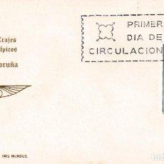 Sellos: TRAJE DE LA CORUÑA TRAJES TIPICOS ESPAÑOLES 1968 (EDIFIL 1841) EN TARJETA MAXIMA PRIMER DIA DE IM.. Lote 207169180