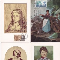 Sellos: PERSONAJES ESPAÑOLES 1968 (EDIFIL 1864/67) EN CUATRO TARJETAS MAXIMAS PRIMER DIA. MPM.. Lote 207171165