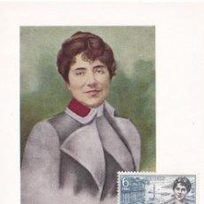 Sellos: ROSALIA DE CASTRO PERSONAJES ESPAÑOLES 1968 (EDIFIL 1867) TM PD MATASELLOS SANTIAGO COMPOSTELA. MPM.. Lote 207171356