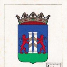 Sellos: ESCUDO DE BADAJOZ 1962 MATASELLOS PROVINCIA (EDIFIL 1411) EN TARJETA MAXIMA PRIMER DIA. MPM.. Lote 207176541