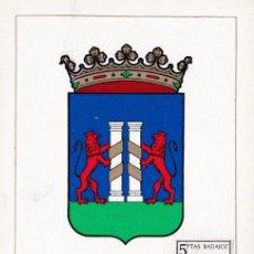 Sellos: ESCUDO DE BADAJOZ 1962 MATASELLOS MADRID (EDIFIL 1411) EN TARJETA MAXIMA PRIMER DIA. MPM.. Lote 207176646