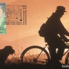 Sellos: SPANISH ANDORRA 2020 - EUROPA 2020 - ANCIENT POSTAL ROUTES MAXIMUM CARD. Lote 207223130