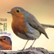 Sellos: SPANISH ANDORRA 2019 - EUROPA C.E.P.T. BIRDS MAXIMUM CARD. Lote 207224363