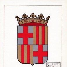 Sellos: ESCUDO DE BARCELONA 1962 MATASELLOS PROVINCIA (EDIFIL 1413) EN TARJETA MAXIMA PRIMER DIA. MPM.. Lote 207307520