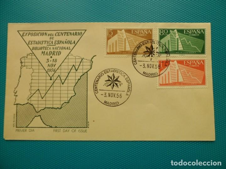 1956-FDC-CENTENARIO ESTADISTICA ESPAÑOLA (Sellos - España - Tarjetas Máximas )