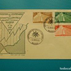 Selos: 1956-FDC-CENTENARIO ESTADISTICA ESPAÑOLA. Lote 210296851