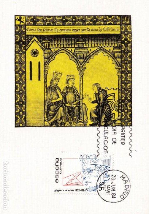ALFONSO X EL SABIO CENTENARIOS 1984 (EDIFIL 2759) EN TARJETA MAXIMA PRIMER DIA. (Sellos - España - Tarjetas Máximas )