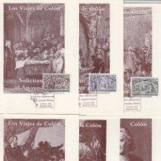 Selos: 1992 ED 3204/9 V CENT DESCUBRIMIENTO VIAJES DE COLÓN XXIV JORNADAS LOPETÉLICAS -TM/TARJETA MÁXIMA. Lote 214919288