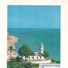 Sellos: FARO DE CALELLA PAISAJES Y MONUMENTOS 1986 (EDIFIL 2838) TM PD MOD 2 MATASELLOS CALELLA (BARCELONA). Lote 217889355