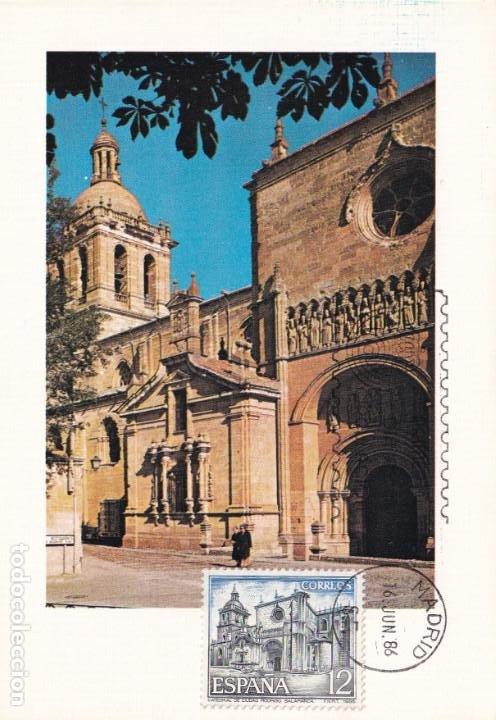 CATEDRAL DE CIUDAD RODRIGO SALAMANCA PAISAJES Y MONUMENTOS 1986 (EDIFIL 2836) EN TM PRIMER DIA. (Sellos - España - Tarjetas Máximas )