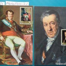 Sellos: 1973-ESPAÑA-TARJETAS MAXIMAS-PINTOR-VICENTE LOPEZ PORTAÑA-SERIE COMPLETA (8TARJETAS). Lote 218696115