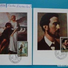 Sellos: 1974-ESPAÑA-TARJETAS MAXIMAS-PINTOR-ROSALES-SERIE COMPLETA (8TARJETAS). Lote 218696328