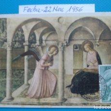 Selos: 1956-ESPAÑA-TARJETAS MAXIMAS-ARCANGEL SAN GABRIEL. Lote 219585713