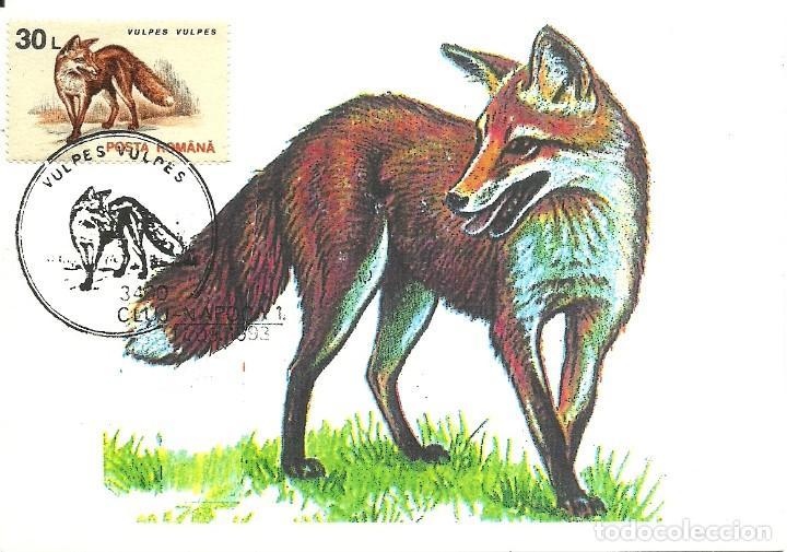 Sellos: 10 Tarjetas maximas de Rumania con diferentes animales .fauna- - Foto 2 - 219765872