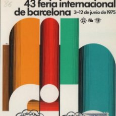 Selos: 1975 43 FERIA INT DE BARCELONA MAT 29 EXPOSICION MUESTRAS -TM/TARJETA MÁXIMA. Lote 221151928