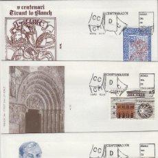 Selos: 1990 ED 3069/72 CENTENARIOS , ALFIL SOBRE PRIMER DIA SPD. Lote 221249637